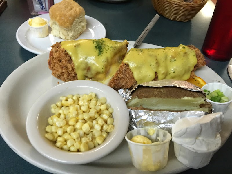 Chicken Cordon Bleu at Ramona Cafe