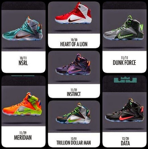 sports shoes 4df7e aea39 LeBron 12 Colorways With Release Dates In The Philippines ...