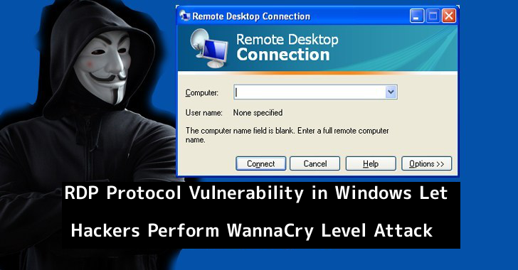 RDP Protocol  - wVmeS1558009788 - RCE Bug in Windows RDP Let Hackers Perform WannaCry Level Attack