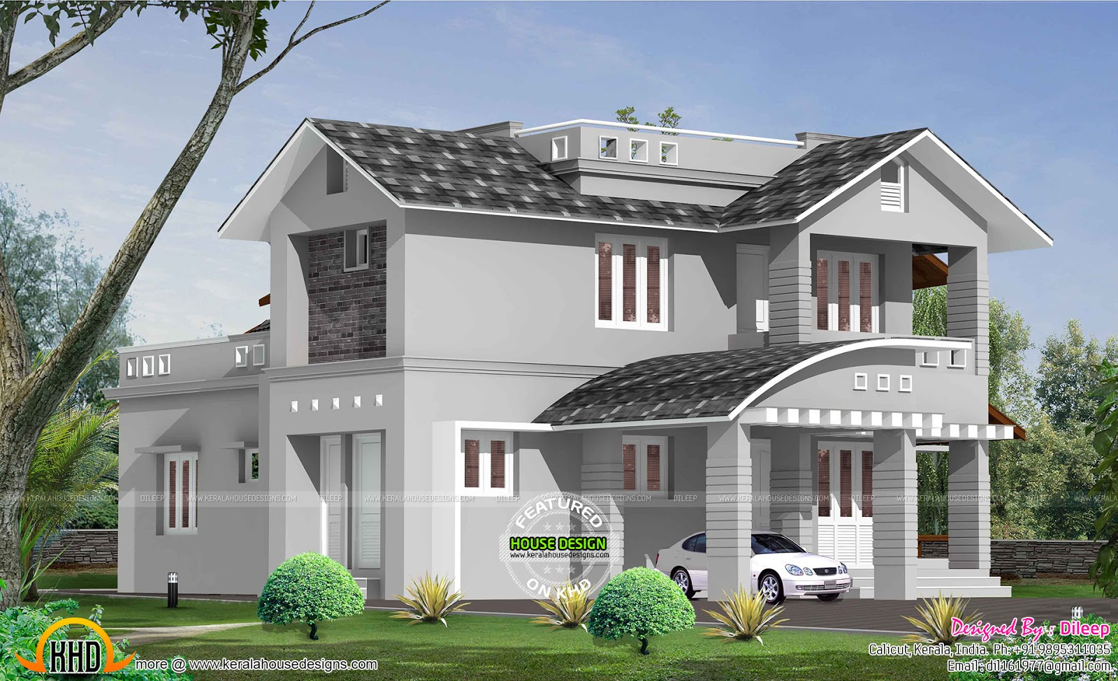 4 bedroom mixed roof house