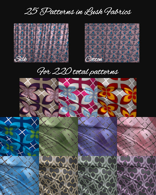 Lush Pattern Fabric Shaders for Iray