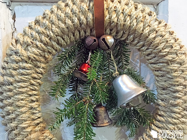sisal wrapped wreath
