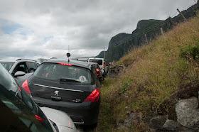 embouteillage sur l'aurlandfjellet