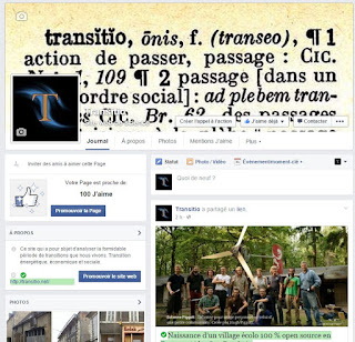 La page Facebook de Transitio !