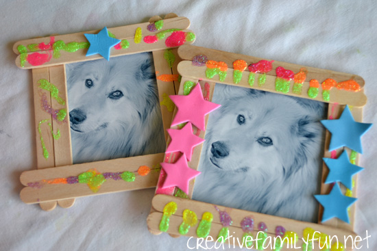 craft ideas for picture frames creative family classic crafts craft stick frames 6221