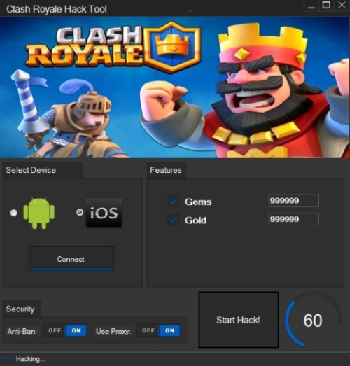 clash royale hacker apk