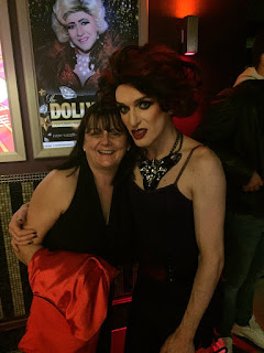 My Mam with Irish drag queen, Veda Lady.