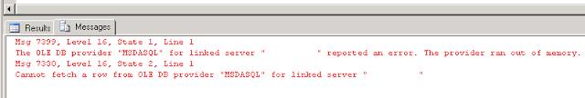 Troubleshooting Linked Server Error The OLEDB provider