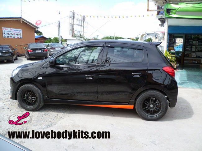 Body Kit Access Plus - Mitsubishi Mirage tampak samping