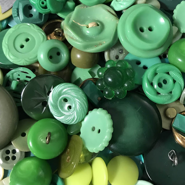 Vintage Green Buttons by Thistle Thicket Studio. www.thistlethicketstudio.com