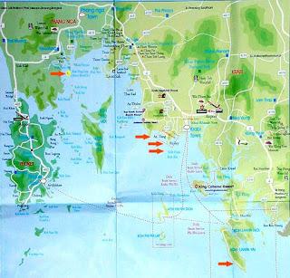 Mapa de Krabi.
