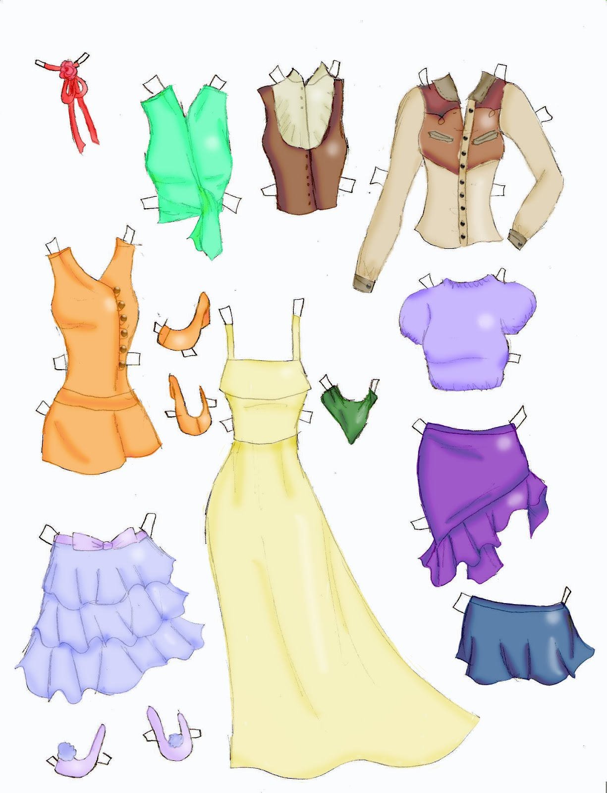 Miss Missy Paper Dolls: Lucy Clothes 8