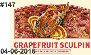 #147 Grapefruit Sculpin Keg Label