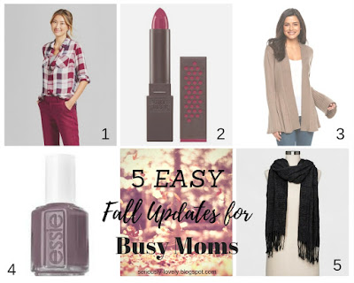 5 Easy Fall Updates for Busy Moms | seriously-lovely.blogspot.com