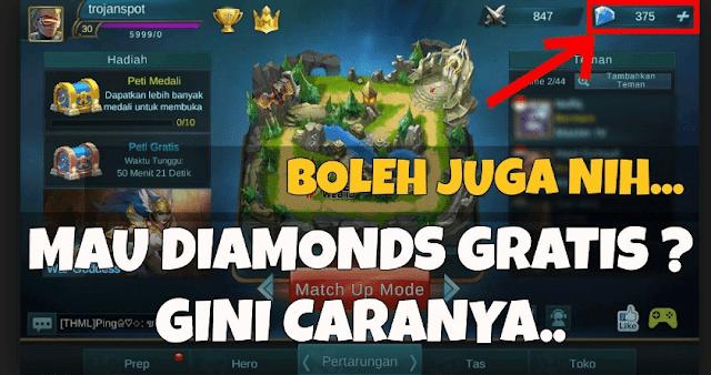 3 Cara Mendapatkan Diamond Gratis Mobile Legends Terbaru