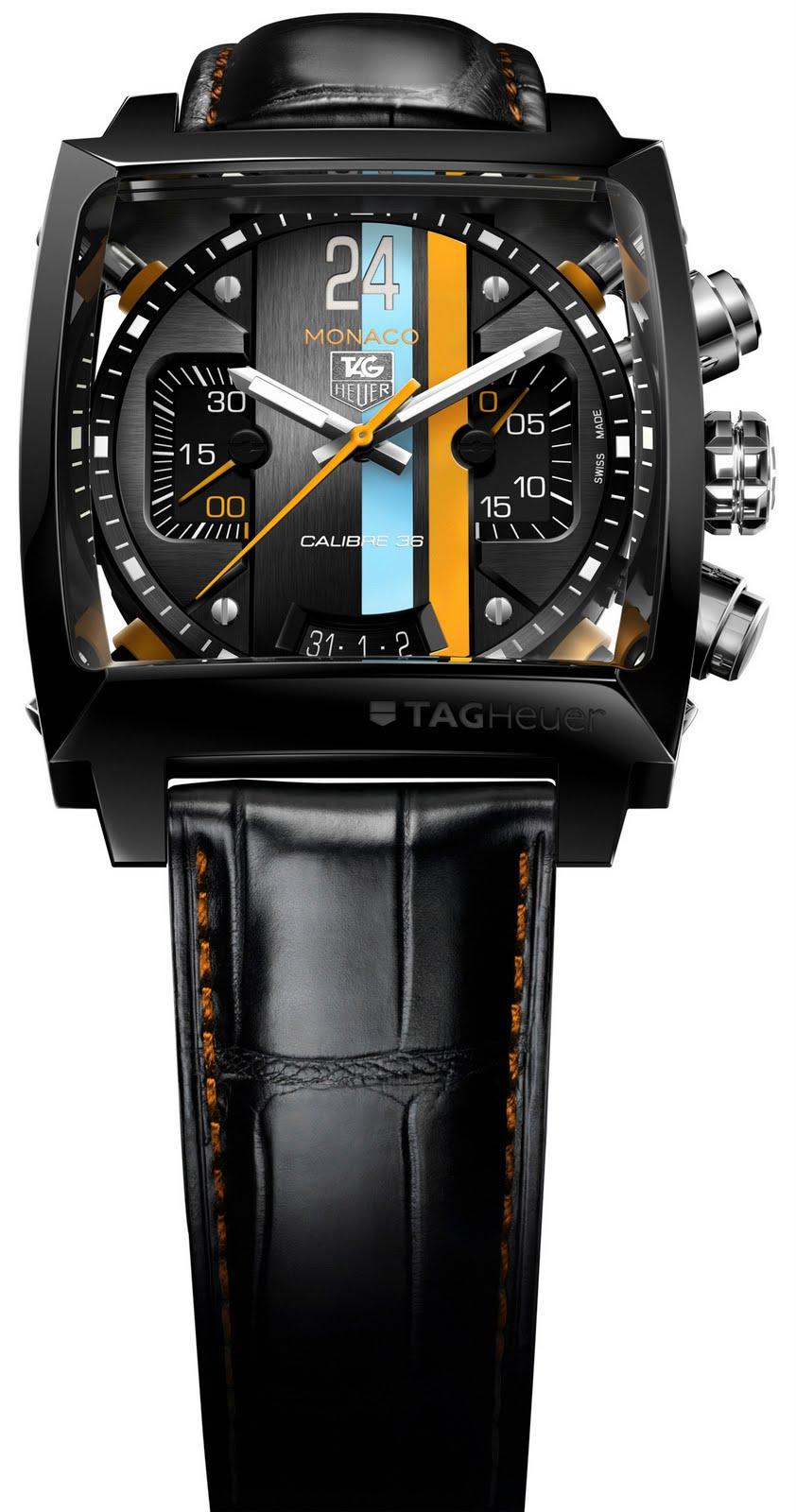 98bc23e4d70 O TAG Heuer Concept 24 é um estojo que reúne o relógio Monaco 24 Calibre 36  Chronograph e o telemóvel MERIDIIST Gulf Edition numa edição limitada a 24  ...