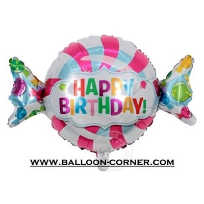 Balon Foil HAPPY BIRTHDAY Permen