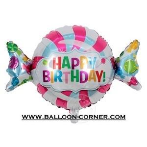 Balon Foil HAPPY BIRTHDAY Permen