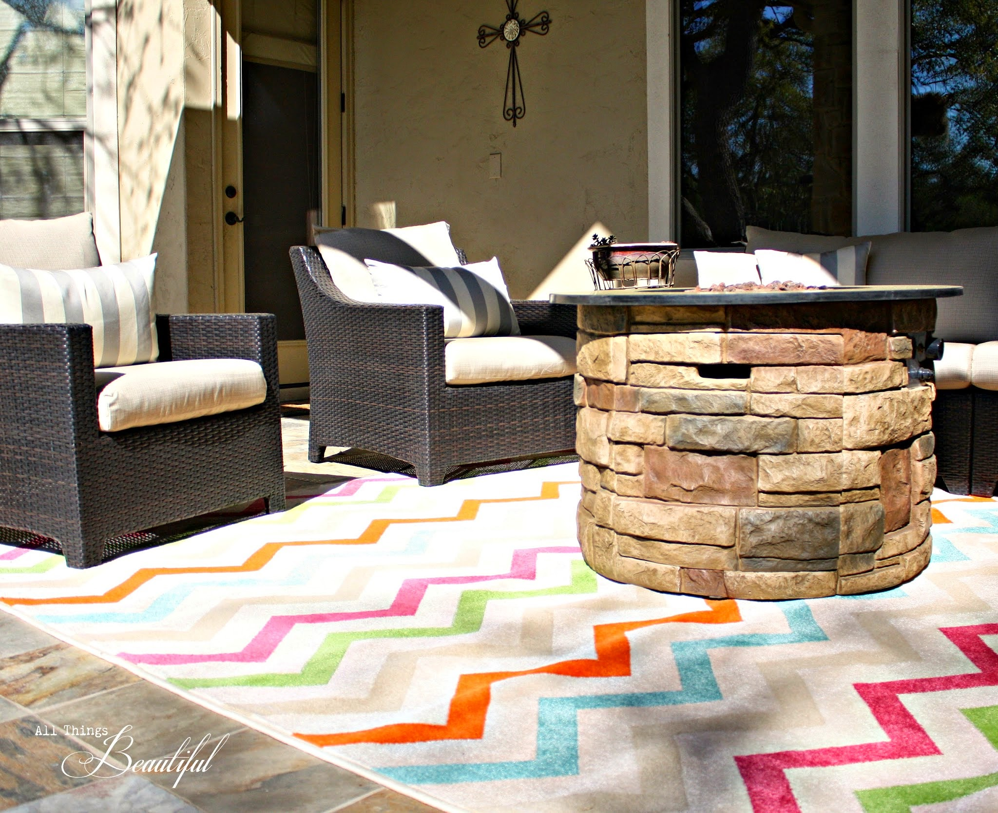 All Things Beautiful: Spring Patio Update {Mohawk Rug