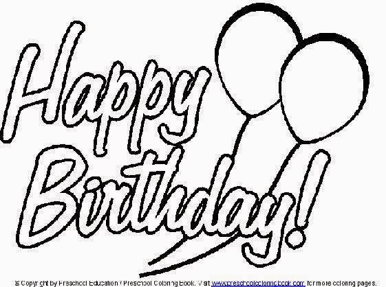 Happy Birthday Coloring Page Card - Colorings.net