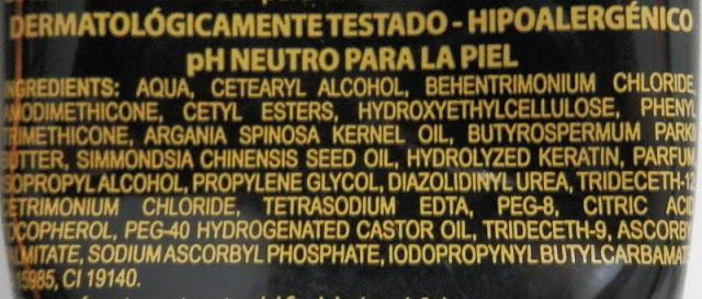 Mascarilla Oro Líquido de Deliplus ingredientes