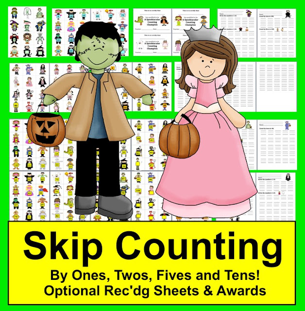 https://www.teacherspayteachers.com/Product/Halloween-Math-Activities-Counting-and-Skip-Counting-389986