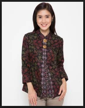 42+ Desain Model Baju Batik Wanita Atasan Modern Terbaru 2020