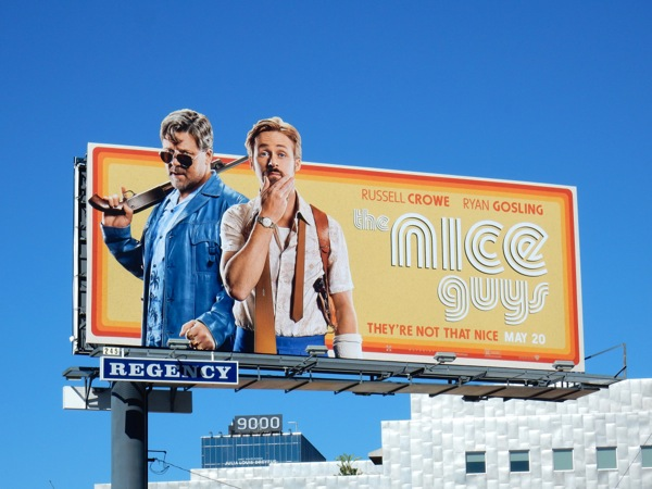 The Nice Guys movie billboard