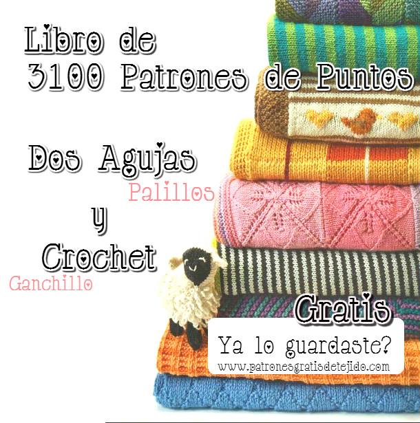 Los mejores 3100 Patrones de Motivos Dos Agujas y Crochet de regalo ...