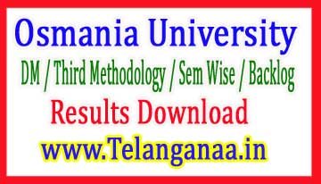 Osmania University B.Ed  2018 results