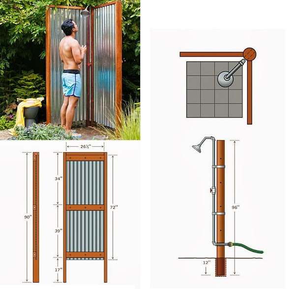 How to build an outdoor shower diy crafts my favorite - How to make an outdoor shower ...