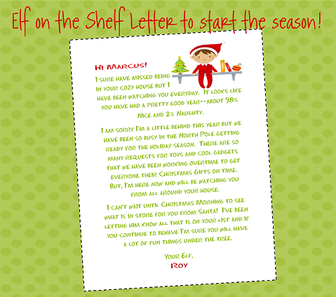"Search Results For ""Free Goodbye Letter From Elf On The"