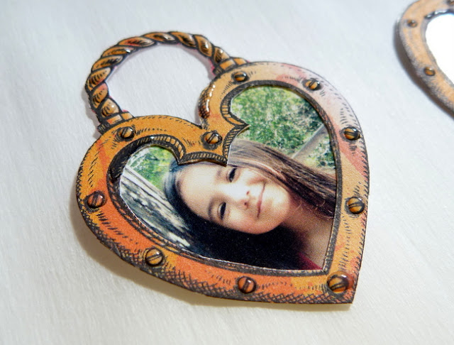 Dimensional Glaze Heart-Shaped Photo Charm Tutorial by Dana Tatar
