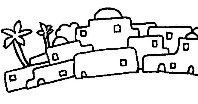 Pueblo de Belen para colorear | Dibujos infantiles ...