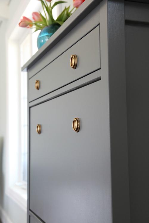 iheart organizing one room challenge week 3 painted shoe cabinet seating update. Black Bedroom Furniture Sets. Home Design Ideas