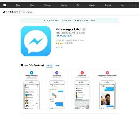 iOS Messenger Lite