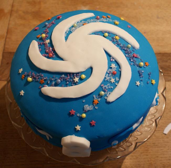 Spore Birthday Cake
