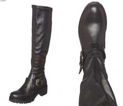 botas de piel de la marca Osmose en oferta de color negro