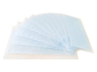 Melhor fita adesiva para mega hair em cartela - linha azul