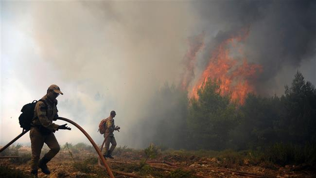 Large wildfire engulfs homes in coasts near Greece's Athens