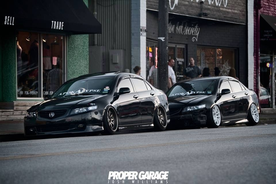 Acura TSX, typowa Honda, Accord VII, VTEC is kicking in yo, badass, tuning, czarna, białe felgi
