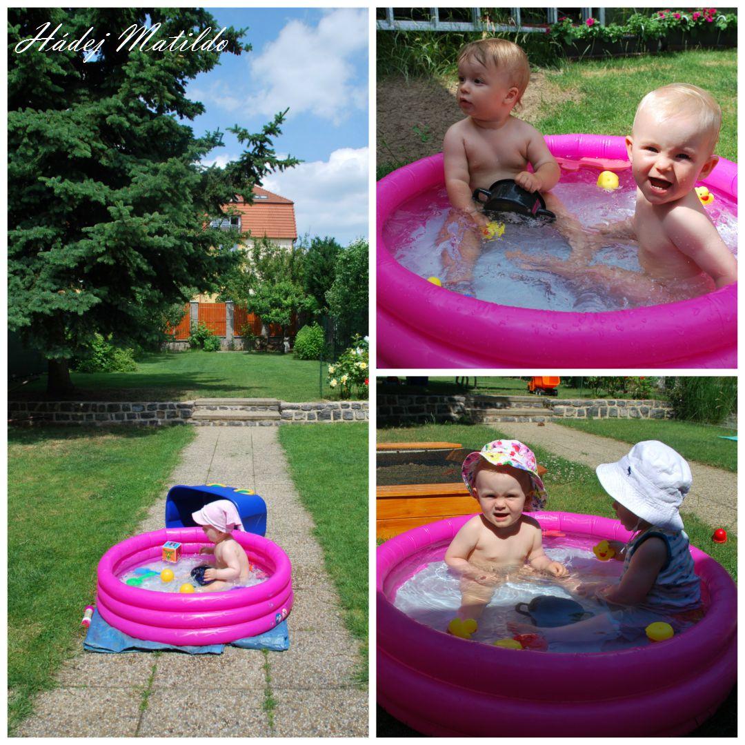 feedo, léto, zahrada, hřiště, bazén