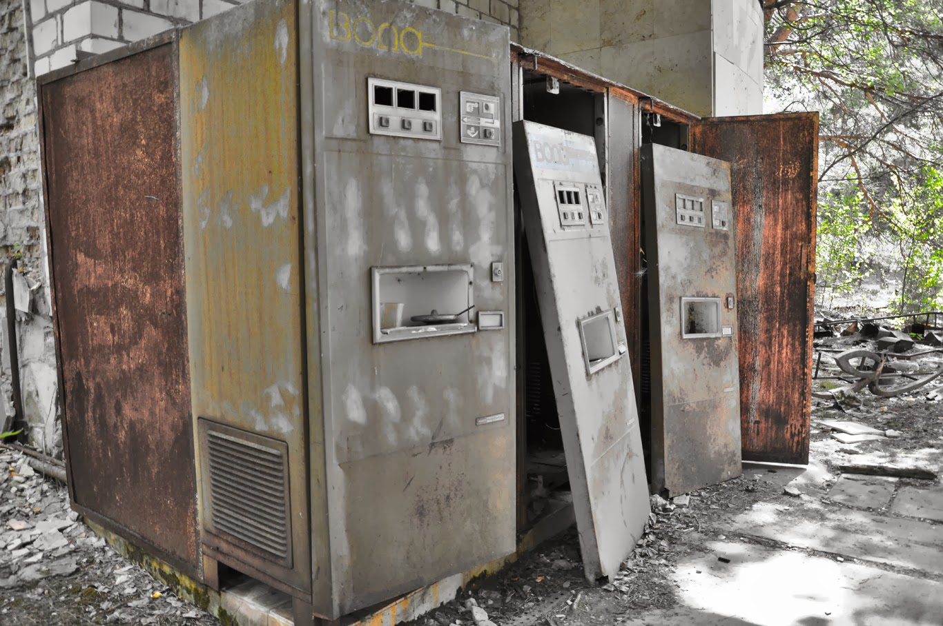 vending machines czernobyl prypeć