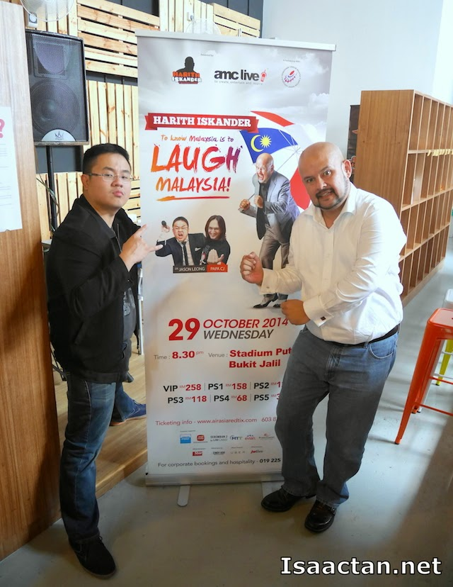 Harith Iskandar and Dr Jason Leong posing for the cameras