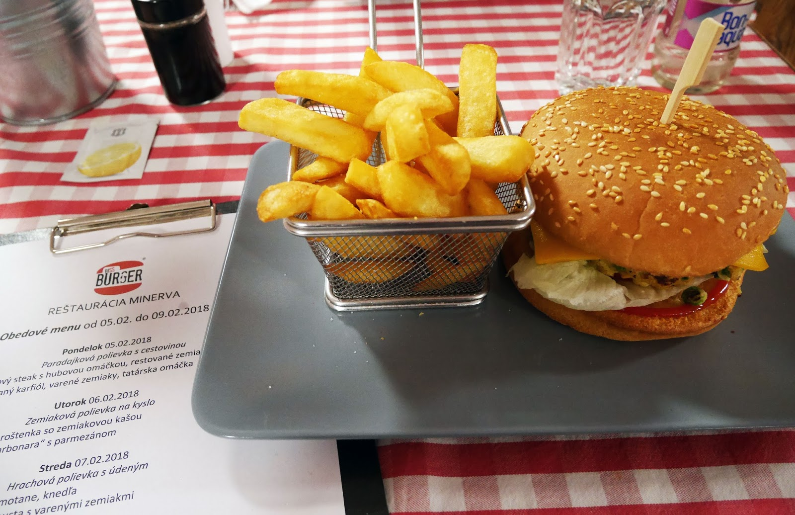 Burgers for lunch at Biss Burger, Bratislava