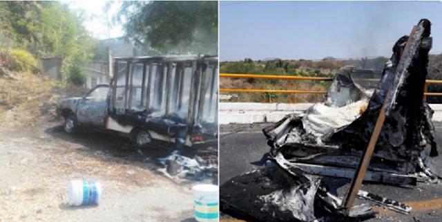 Arde Tierra Caliente en Michoacán tras enfrentamientos queman 18 vehículos