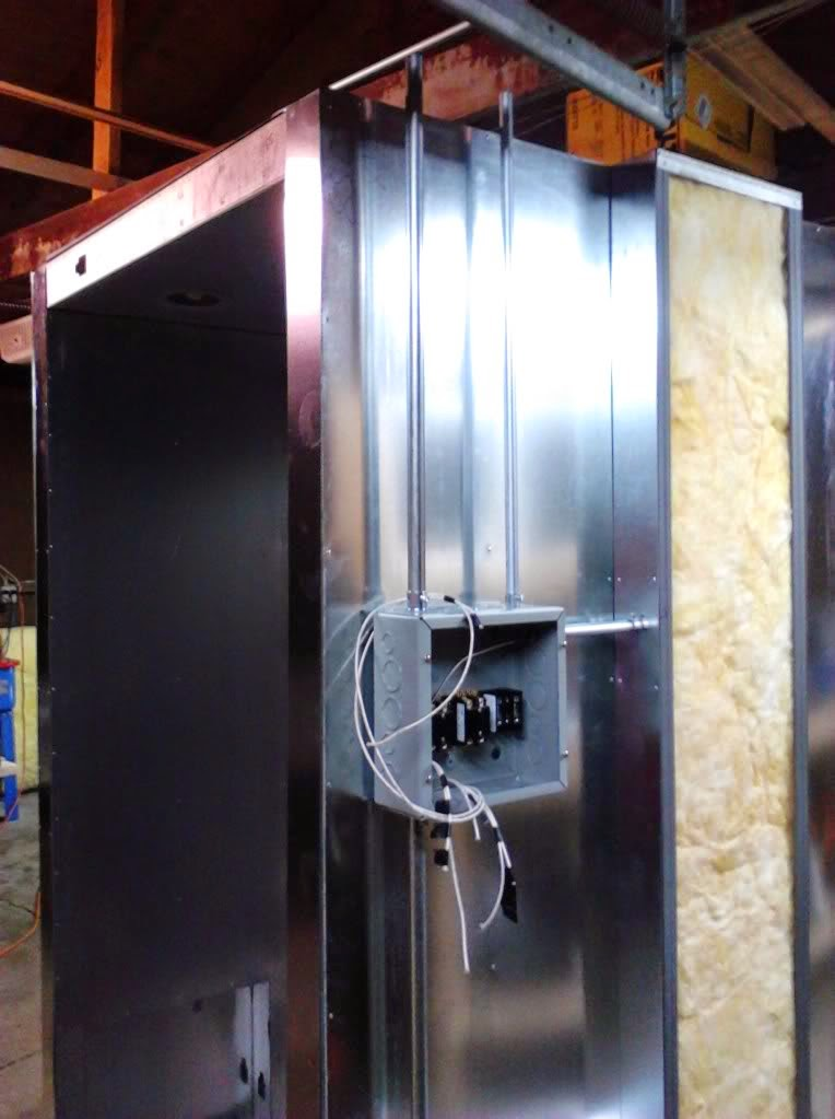 powder coating oven build high temp wiring