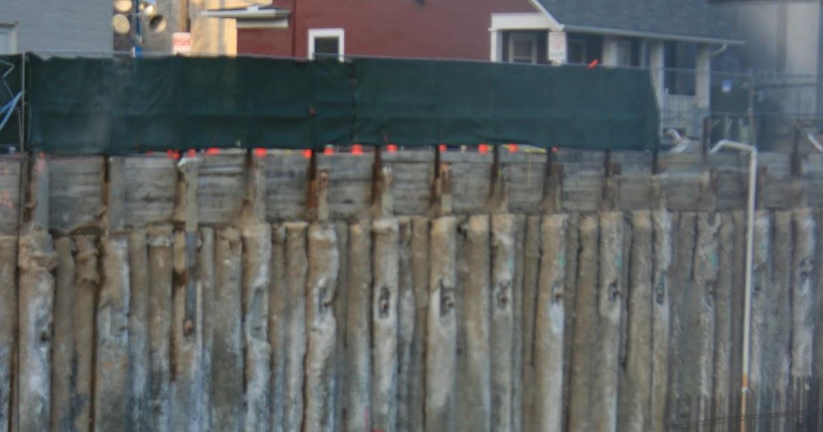 Civil Engineering Photos #39 Auger Cast Pile Wall Failure