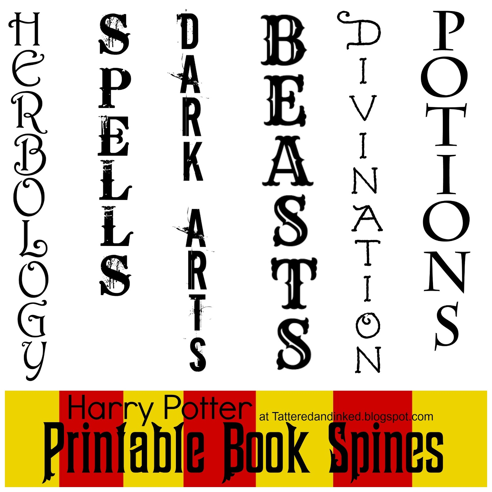 Stacks And Flats And All The Pretty Things Harry Potter Party Free Printables And Source