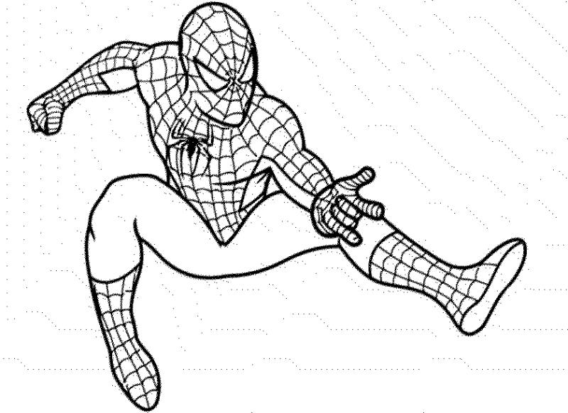 Mewarnai gambar  spiderman si super hero yang keren